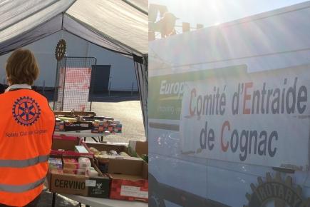 Rotary club de Cognac - Collecte alimentaire - 27 et 28 Novembre 2020
