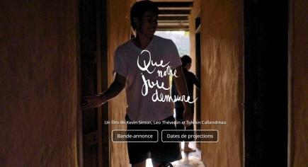 """Page d'accueil du site web dédié au film """"Que notre joie demeure"""""""